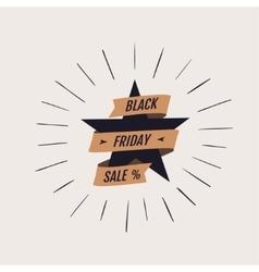 Black Friday shopping label vector image