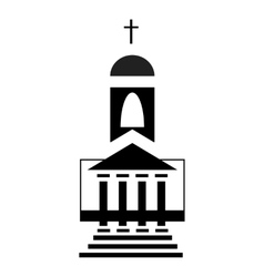 Church icon in simple style vector