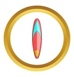 Color surfboard icon vector image vector image