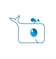 Cute dolphin logo vector