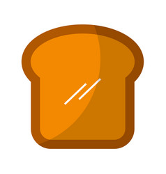 Delicious bread slice isolated icon vector