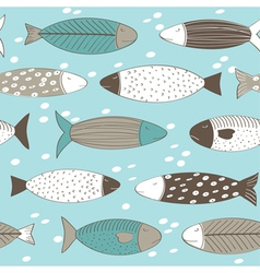 Fish background vector image