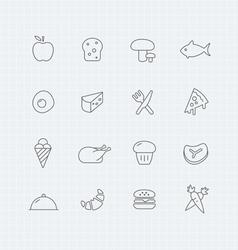 Food thin line symbol icon vector