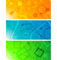geometrical banners vector image