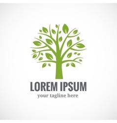 Green tree logo design template vector