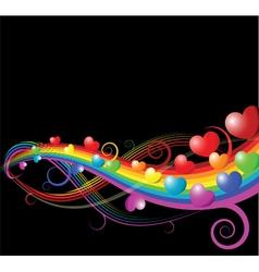 heart rainbow vector image vector image