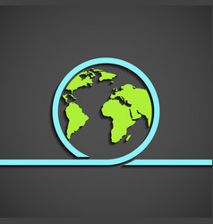 icon planet earth vector image vector image