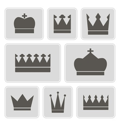 icons with different crowns vector image vector image