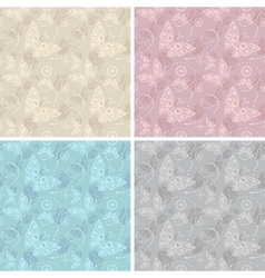 Lace white seamless pattern vector image