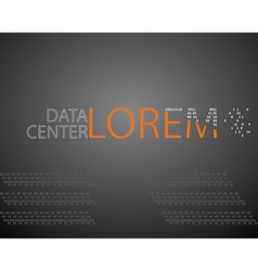 logo design template mock up data center or IT vector image vector image