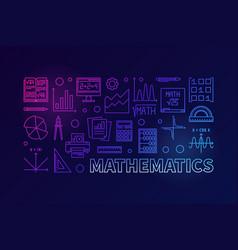 Mathematics colorful modern line vector