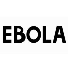 modern ebola elemenr design vector image
