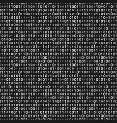 monochrome binary code seamless pattern vector image