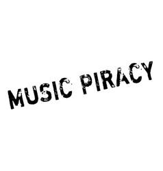 Music piracy rubber stamp vector