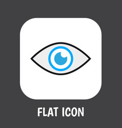 of safety symbol on eye flat vector image vector image