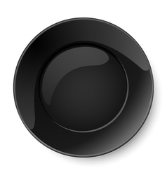 Round black plate vector image
