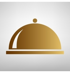 Server sign Flat style icon vector image vector image