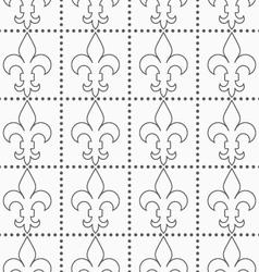 Shades of gray contoured Fleur-de-lis with dots vector image vector image