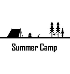 Summer camp print vector
