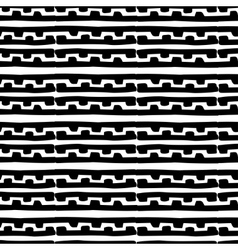 Seamless monochrome hand drawn pattern on vector