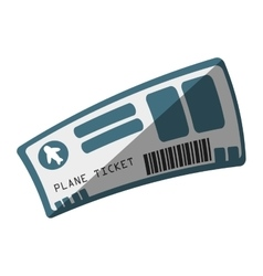 Flight ticket isolated icon vector