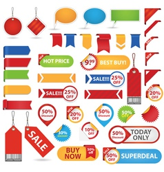 Big Set of Sale Stickers vector image