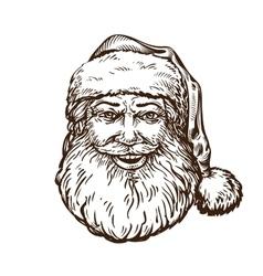Jolly santa claus sketch vector
