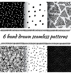Hand drawn seamless triangle pattern vector