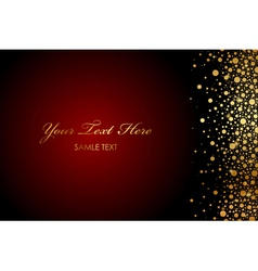 Magic background with gold sparkles vector