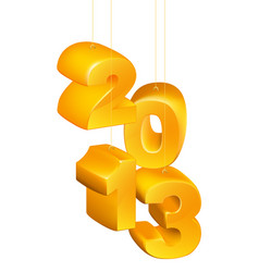 2013 new year decorations vector image