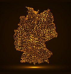 Abstract map of germany with glowing particles vector