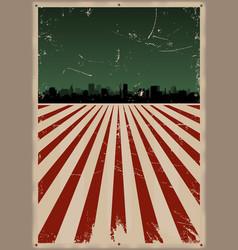 Grunge american poster vector