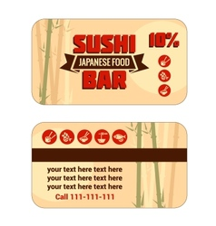 Susi discount card template vector