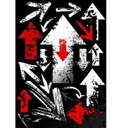 Set of black arrows vector image