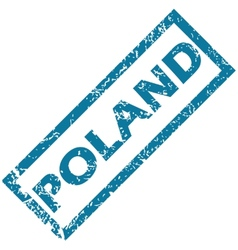 Poland rubber stamp vector