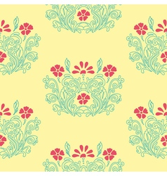 Floral retro pattern vector