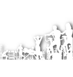 gym cutout vector image