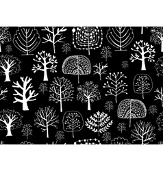 Seamless pattern with trees sketch for your vector