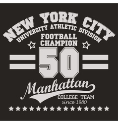 Manhattan t-shirt graphics vector