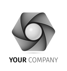 Abstract camera shutter logo vector