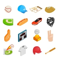 American football isometric 3d icons vector image