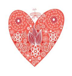Beautiful of a red heart vector image