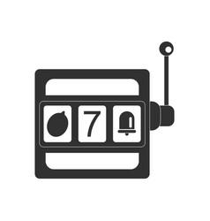Black icon on white background jackpot machine vector