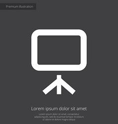 Board premium icon white on dark background vector