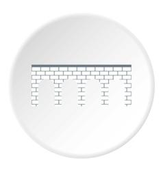 Brick bridge icon flat style vector