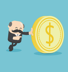 business with the dollar vector image vector image