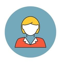 Businesswoman avatar icon vector image