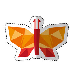 Butterfly low poly style vector