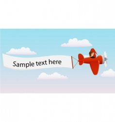 cartoon pilot vector image vector image