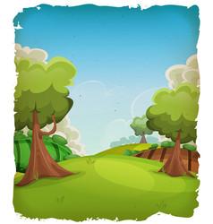 Cartoon rural landscape background vector